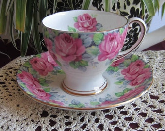Free Shipping Royal Standard by Chapmans ROSE of SHARON Bone China Demi Tasse Tea Cup and Saucer