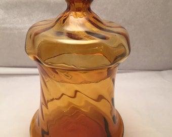 Pretty vintage glass jar