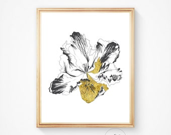 Wall decor, Poppies print, Poppy Gold poppy Poppy art Botanical art, Floral print, Poppies art, Wall decor, Print, Nature art, Poppy, flower