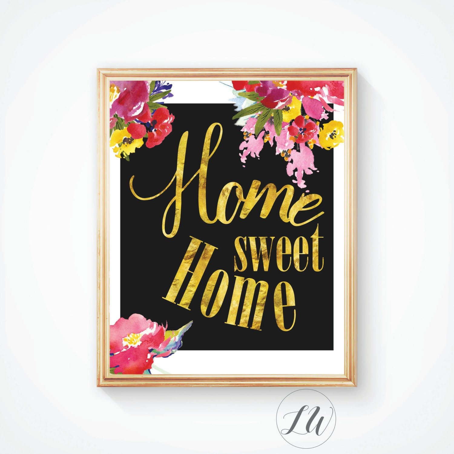 Sweet home print home decor wall decor housewarming gift Home sweet home wall decor