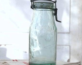 Vintage French l'idéale canning jar
