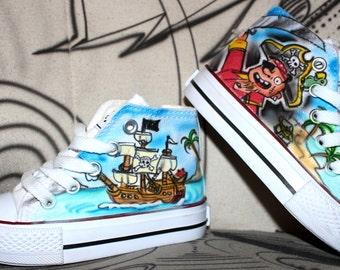 Kinder Kids Size Airbrush Canvas Shoes Individual Design Graffiti Style Fashion