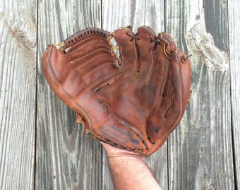 Ted Williams Baseball Glove - Sears Roebuck and Co. Baseball Glove - Vintage Baseball Glove