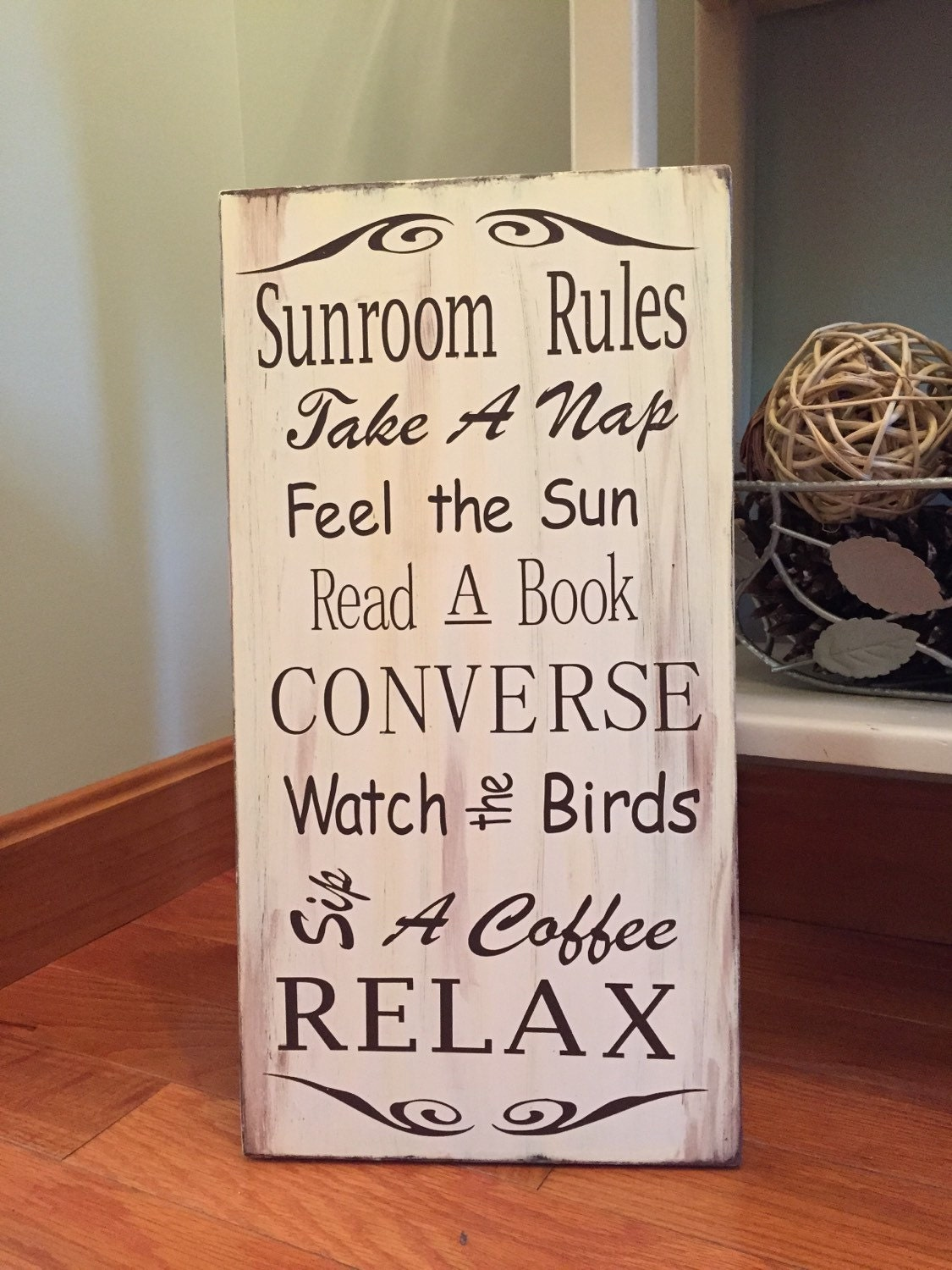 Sunroom rules wood sign home decor porch sign 6 home decor rules to break now