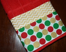 Christmas Towels-Set of Christmas Towels-Holiday Towels-Christmas Gift-Christmas Decor-Christmas Kitchen Towels