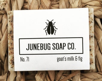 Goat's Milk & Fig Bar Soap - Natural Soap, Goat's Milk Soap, Handmade Soap, Fig Soap, Bar Soap, Goat Milk Soap, Homemade Soap, Fig Tree