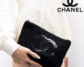 authetic chanel cc logo fur purse