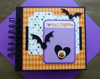 25% OFF SCRAPBOOKS - Halloween Scrapbook Album, Pre-made Halloween Scrapbook, Halloween Mini Album