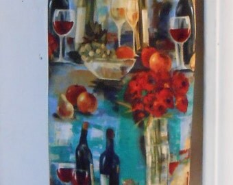 Plastic Grocery Bag Holder #305 Wines and Fruit plastic bag holder