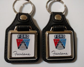 FORD FAIRLANE KEYCHAIN 2 pack classic car logo