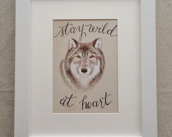 Wild Wolf print - 5x7