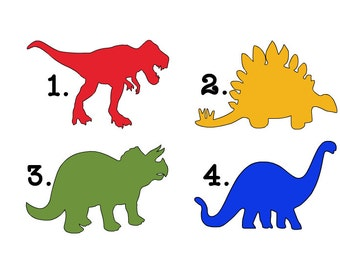 Dinosaur Decals With or Without Personalization