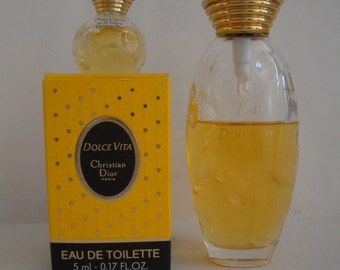 Dolce Vita Christian Dior Bottle 50ml EDT Spray & Miniature 5ml EDT
