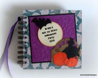 Custom Personalzed Disney Halloween Autograph Book Scrapbook journal keepsake