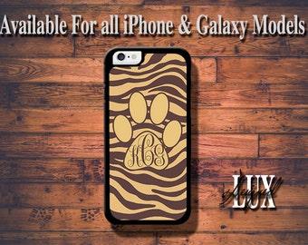 iPhone 6 Case/ Leopard Monogram Paw iPhone 6 Plus Case/ Cheetah iPhone 5/5S Case/ Paw iPhone 4/4s Case