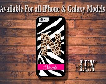 iPhone 6 Case/ Leopard/Zebra Monogram iPhone 6 Plus Case/ Cheetah iPhone 5/5S Case/ Name iPhone 4/4s Case