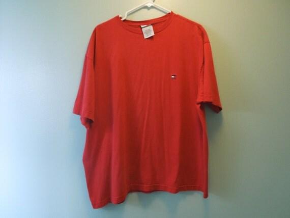 90s tommy hilfiger basic red t shirt by vintagegoddesses. Black Bedroom Furniture Sets. Home Design Ideas