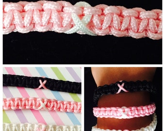 Adjustable Breast Cancer Awareness Bracelet
