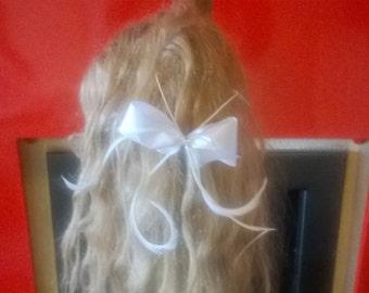 white bridal hair clip