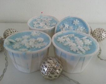 Snowflake bath creamers