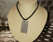 Silver Fibre Pendant Necklace