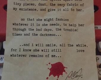 I will tear myself apart...