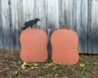 Primitive Wood Pumpkin with or without crow