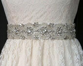 Bridal Rhinestone Sash Belt  Wedding Crystal Belt Wedding Accessories