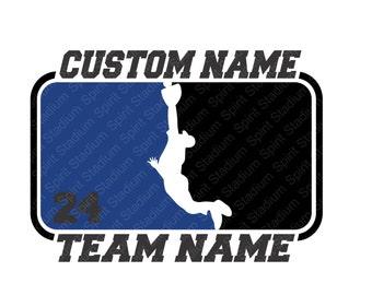 Custom Baseball Shirt - Team or School Spirit T-Shirt - You Choose Text/Colors/Position/Number