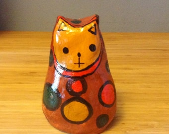 Clay Cat Figurine