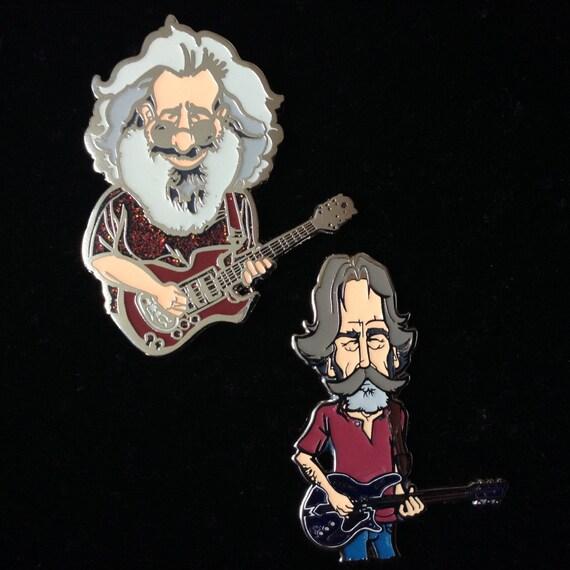 Grateful Dead Trucker Hat: 2 Pin Set Grateful Dead Pin Jerry Garcia Bob By ShakedownParty