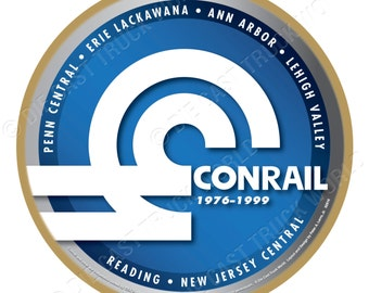 Conrail Railroad Logo Wood Plaque / Sign