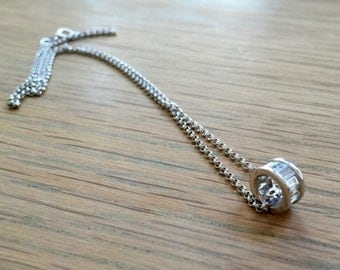 Diamonds baguette Necklace  with 18kt white gold