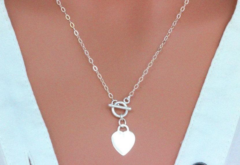 sterling silver toggle clasp necklace toggle necklace