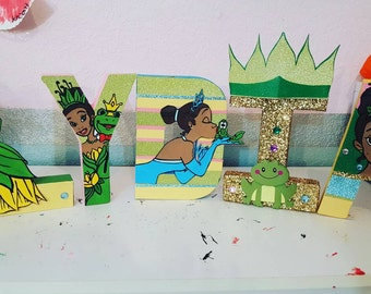 Princess and the frog theme letters