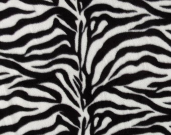 MADE TO ORDER, Black/White Zebra Fleece Blanket