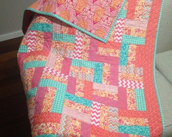 "Custom Baby Patchwork Quilt - ""The Stella"""