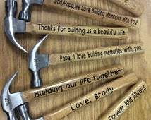 Personalized Hammer, Gift for men, Father's Day, for him, vinyl hammer, men gifts, for men, Valentine's Day, Wedding, New Home, Birthday