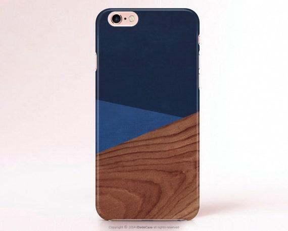 iPhone 7 Case Wood iPhone 7 Plus Case iphone 5 Case Wood Print Color Block Blue Samsung Galaxy S7 Case Modern iPhone 6s Case Galaxy S8 Case