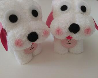 Bautizo - recuerdos de bautizo - bautizo niño - recuerdo bautizo - recuerdos para bautizo - bautismo - toalla - towel - perro - dog