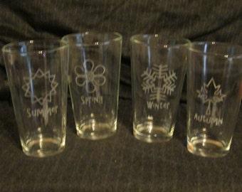 Four Seasons Pint Glass Set of 4