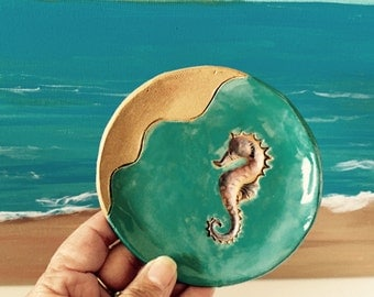 Seahorse Ring Dish, Ring Jewelry Dish, Soap Dish, Spoon Rest