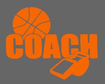 Basketball Coach, Custom coach iron on, Basketball heat transfer, Coach heat transfer