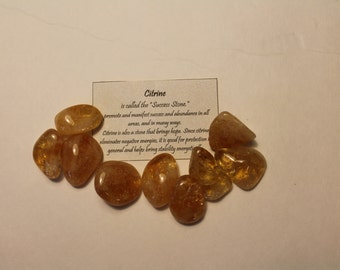 Citine Tumble Stone         mix and match order up to 5 Tumble Stones --  shipping cost are the same.!!!!!
