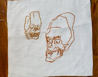 Small Wonder x Old Souls Pair of Skulls Embroidery