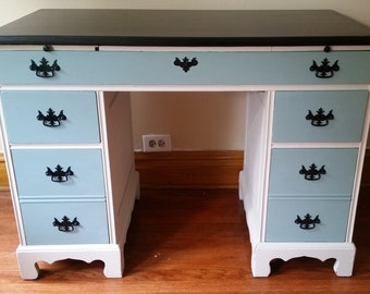 Hand Painted Solid Wood Desk