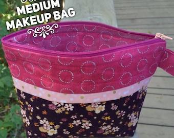 Floral Corduroy Makeup Bag Medium