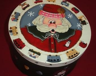 Santa Keepsake Paper Mache Box
