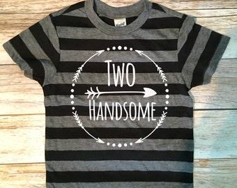 Two Handsome Birthday Shirt, 2nd Birthday Shirt, 2nd Birthday Boy Shirt, Boys Birthday top, Birthday shirt, Second Birthday Boy Shirt