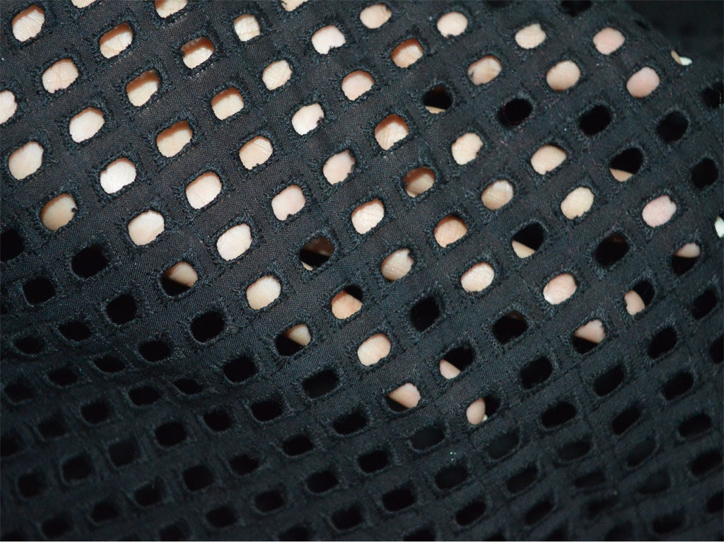 Eyelet fabric embroidered cotton in by